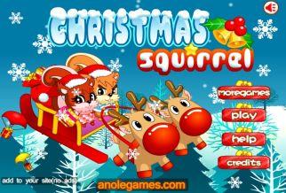Graj w Christmas Squirrel