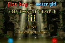 Fireboy and Watergirl 3 in The Forest Temple - Zrzut ekranu