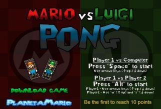 Graj w Mario vs Luigi Pong