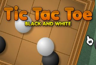 Graj w Tic Tac Toe: Black and White