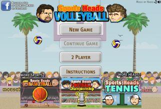 Graj w Sports Heads: Volleyball