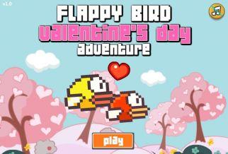 Graj w Flappy Bird: Valentine's Day Adventure