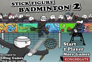 Graj w Stick Figure Badminton 2