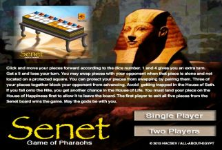 Graj w Senet: Game of Pharaohs