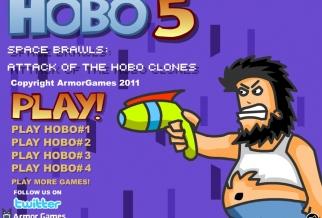 Graj w Hobo 5: Atak kosmitów